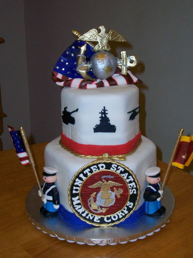 154 best images about cake army navy marines for Air force cakes decoration