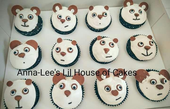 panda birthday  cupcakes