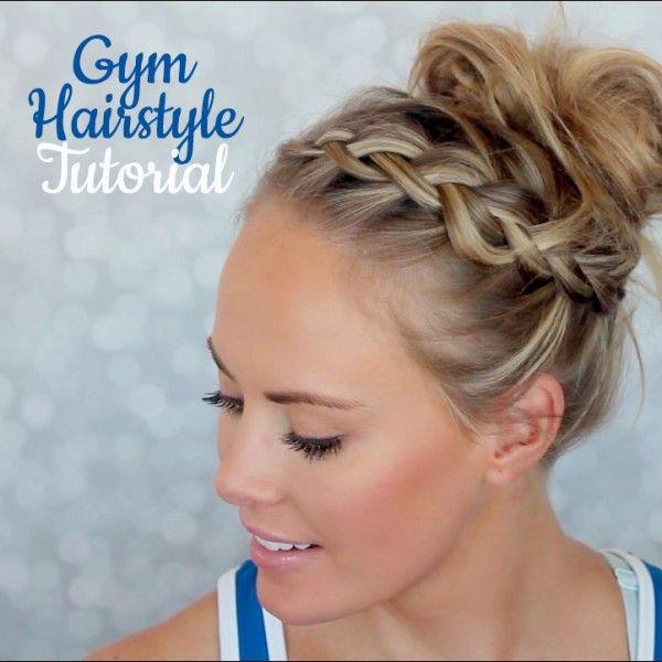 Gym Hairstyle Tutorial - Recogido con una trenza. Ideal para el gimnasio