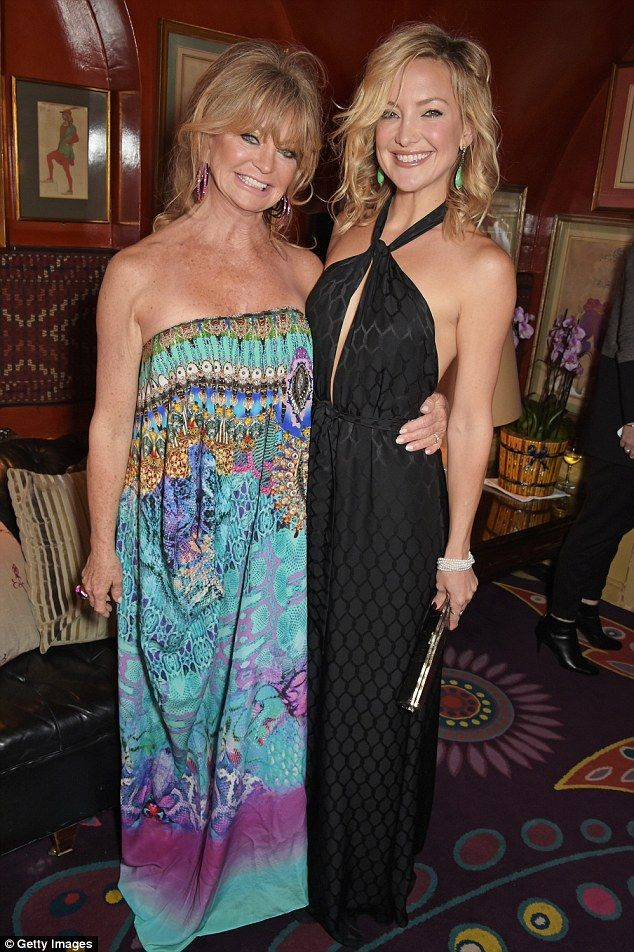 One of many celebrity Camilla fans: Franks says Goldie Hawn (left) and Kate Hudson (right)...