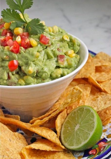 BEST Guac:): Dips Spreads Salsas Condi, Food Porn, Corn Guacamole, I D Eating, Healthy Eating, Eating Attitude, Favorite Recipe