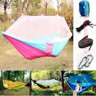 Portable Double Hammock Tree 2 Person Patio Bed Swing Outdoor  Mosquito Net US