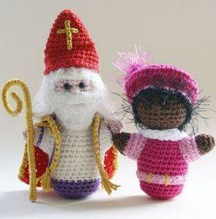 Een gratis Nederlands haakpatroon van Sinterklaas en Piet. Wil jij ook een Sint en Piet haken? Lees dan snel verder op haakinformatie over het patroon!