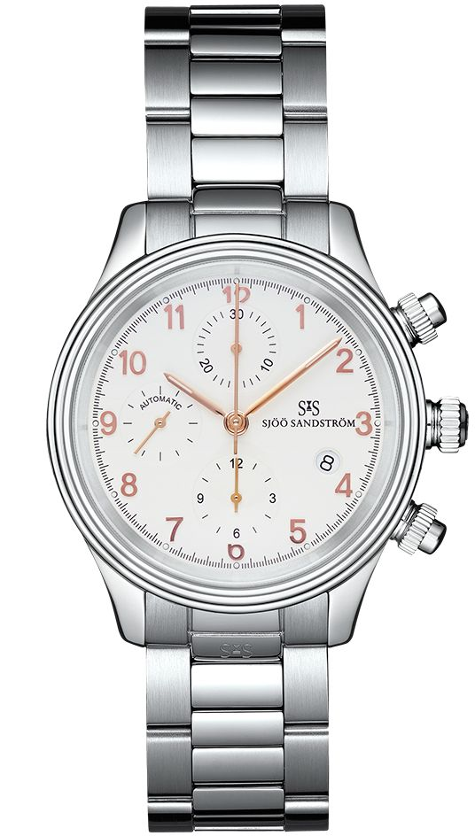 Royal Steel Chronograph 42mm with Ivory rosé gold dial and steel bracelet.