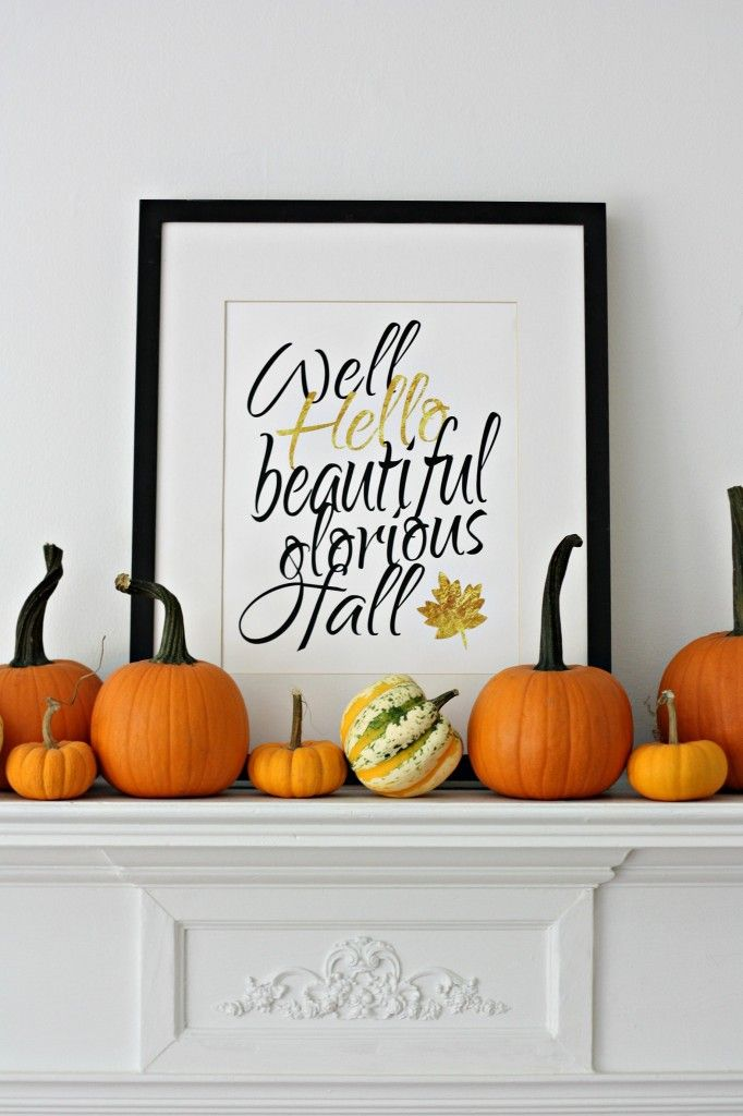 Well hello, glorious fall! Update your home for the season in an afternoon. Print out and frame your own holiday décor with any of these 25+ free fall printables by Lolly Jane.