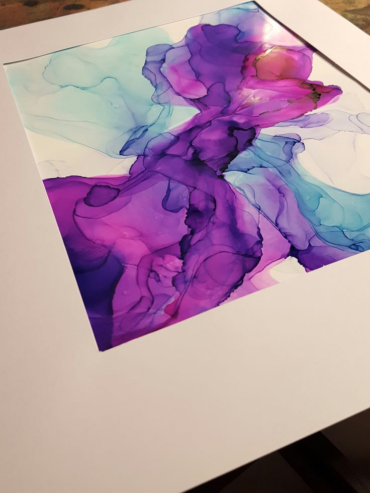 Alcohol ink on gloss cardstock by Tatum.ink.art
