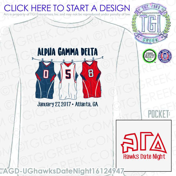 Alpha Gamma Delta | ΑΓΔ | Hawks Date Night | PR | Date Party | Sisterhood | TGI Greek | Greek Apparel | Custom Apparel | Sorority Tee Shirts | Soroity T-shirts | Custom T-Shirts