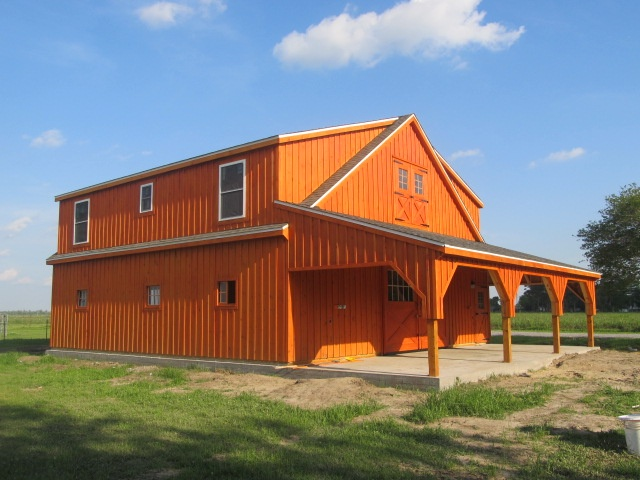 Who says you can 39 t live above your horses in lockport la for Barns with apartments above