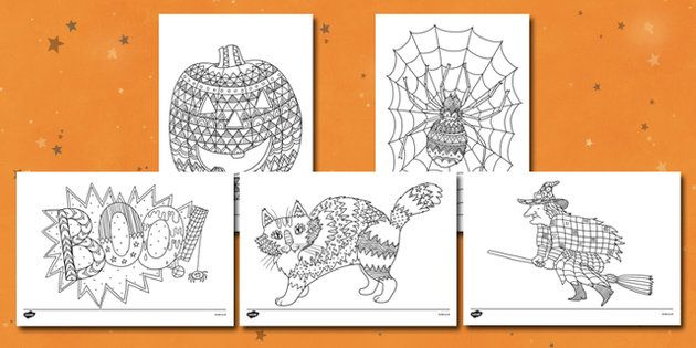 Halloween Themed Mindfulness Colouring Sheets ...