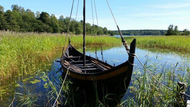 Viking boat from Birka, the historical Viking island in Mälaren. #viking #viking boat #birka