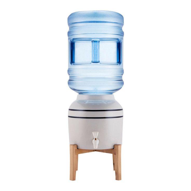 new bottled water dispenser cooler 5 3 gallon ceramic top loading tabletop gray