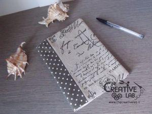 tutorial come fare copertina fodera agenda quaderno stoffa 01