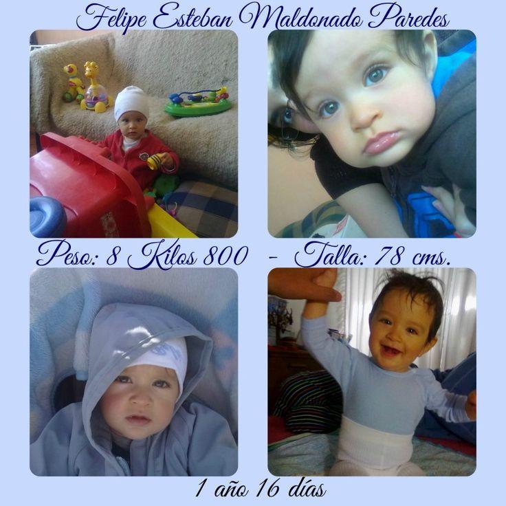 Felipe Esteban, 1 año 16 días