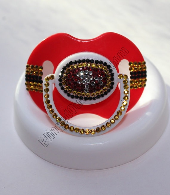 San Francisco 49ers Baby Bling Pacifier by BlingedOutThings, $30.00 Not wedding, but I thought of you :)