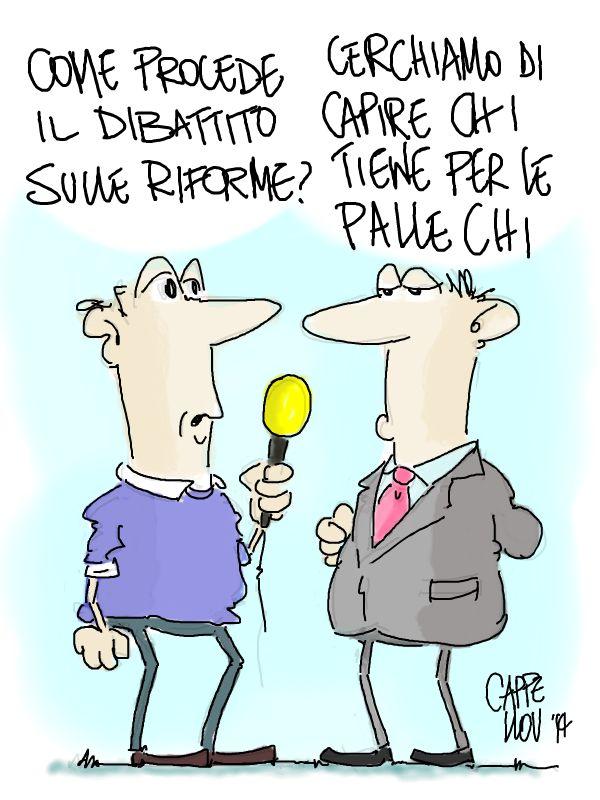 ITALOSAURI  vignette di Valeriano Cappello: riforme