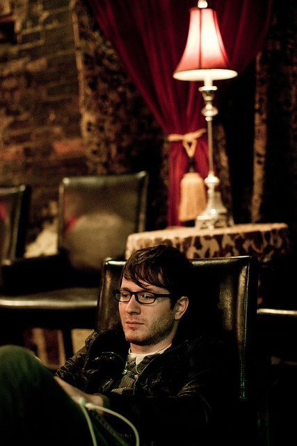 Adam Young / Owl City I love him in his glasses ^^  -Brainy specks, he probably doesn't even need them, hes just wearing them to look smart! :P  -The Saint