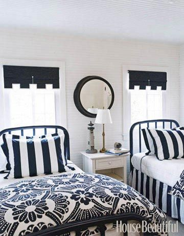 175 beautiful designer bedrooms to inspire you navy and whitenavy blueblack white decorthe - Black And White Bedroom Decorating Ideas