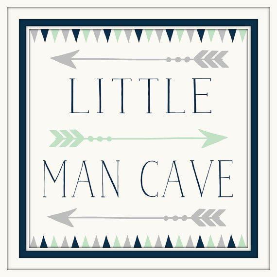 Baby Boy Nursery Decor   Little Man Cave   Navy   Grey   Art With Arrows Part 98