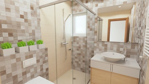 Bathroom Design and rendering created by Puncto.ro