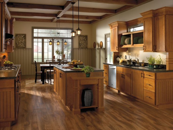 Aristokraft Roxburgh Cabinets Beadboard Style Doors Exude Personality,  While The Rich, Even Wood Tone Imparts A Dressed Up Feel.