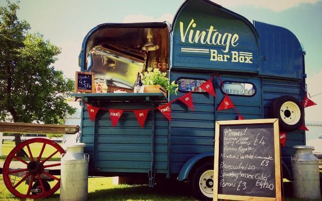 Vintage Bar Box Food Truck Wine Sector Pinterest