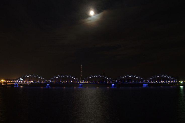 Dzelzceļa tilts. Riga.