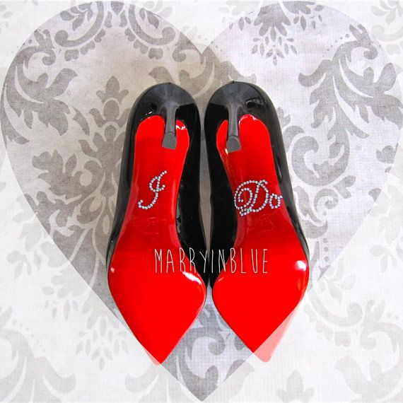 "I Do Shoe Sticker. Something Blue ""I Do"" Wedding Rhinestone Shoe Sticker. Cute Wedding Gift Idea on Etsy, $2.95"