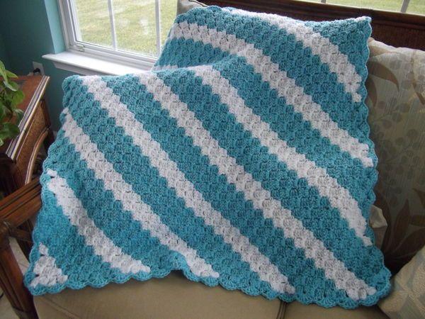 Corner to Corner Throw Crocheted