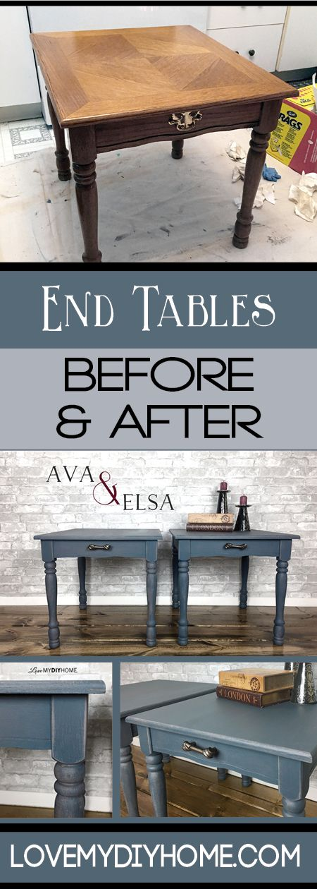 End Tables Ava & Elsa Restyled by P&O Inspiration Collection 2017