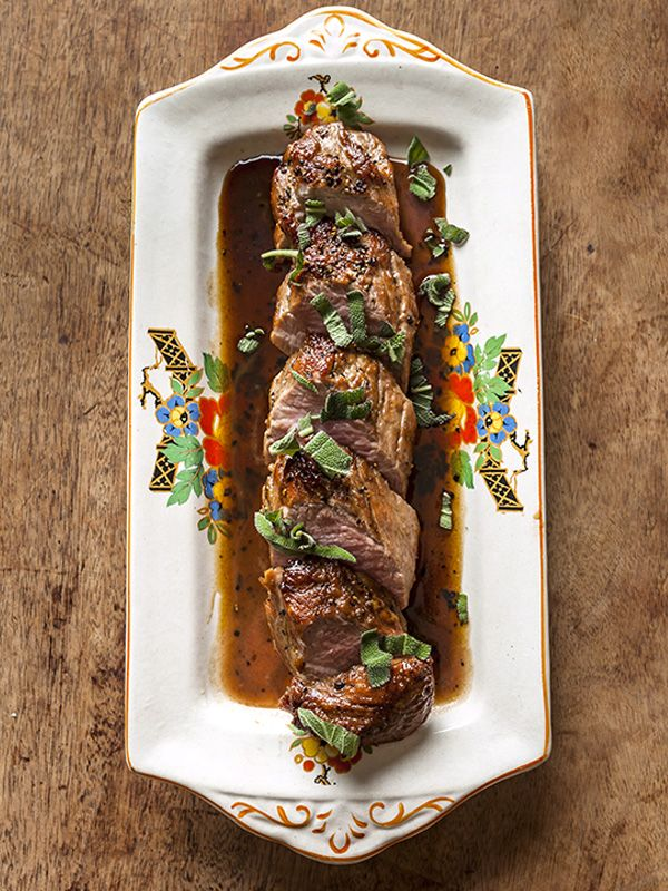 This recipe for pork tenderloin with madeira and sage comes from Hill & Szrok, London and makes a great main course for entertaining.