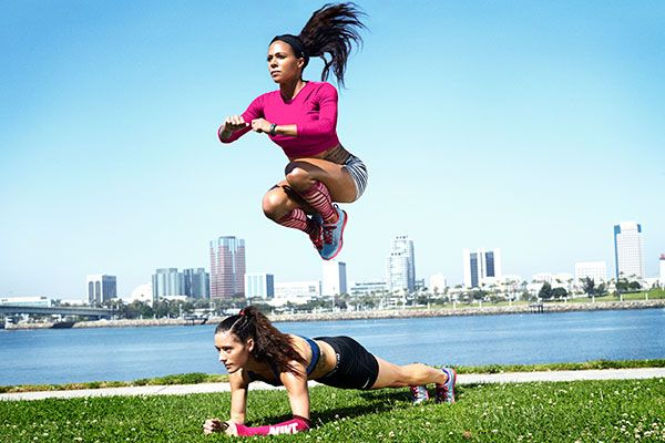 SELF EXCLUSIVE! Soccer Stars Sydney Leroux and Ali Krieger Share Their New Nike Training Club Workout | Grab a buddy. Now let's go! #SELFmagazine