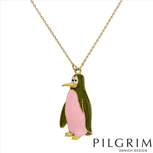 PILGRIM SKANDERBORG, DENMARK Exquisite Brand New Necklace With Simulated gems Beautifully Designed in Yellow Base metal and Multicolor Enamel. Total item weight 15.5g  - Certificate Available.
