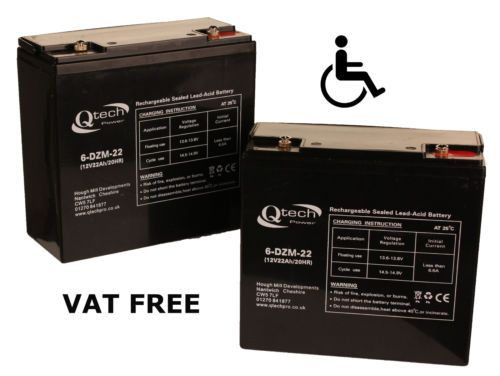 MOBILITY-SCOOTER-BATTERY-2-Disabled-Wheelchair-12V-22ah-Batteries-AGM-GEL