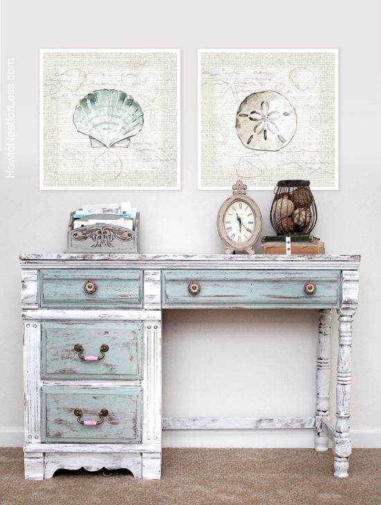 a lovely distressed desk painted in pure white paris grey on desk color ideas id=98099