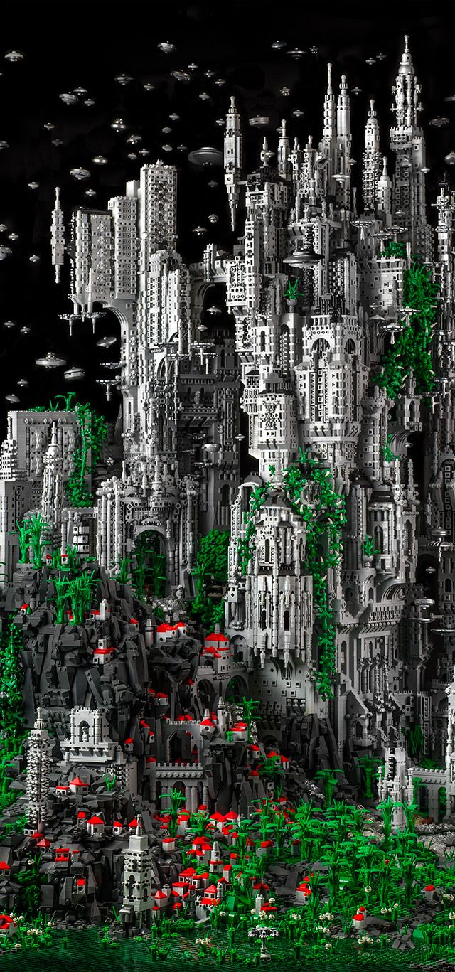 200,000 pcs Sci-Fi Lego Sculpture by Mike Doyle. Limited edition prints offered. For more info click link