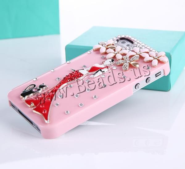 Customized Mobile Phone Cases, Plastic, with Zinc Alloy, Rectangle