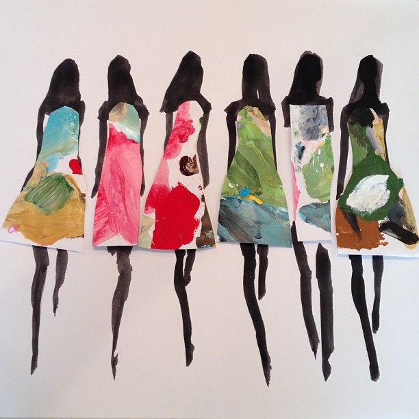 Fashion illustration by Donald Robertson, head of creative development for Bobbi Brown.
