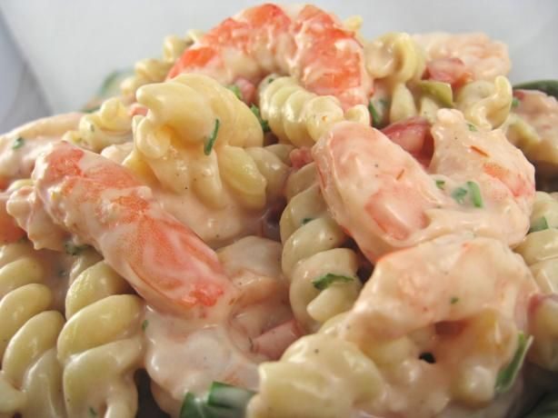 Shrimp Louis Pasta Salad from Food.com:   								Main dish salad, excellent with fresh French bread
