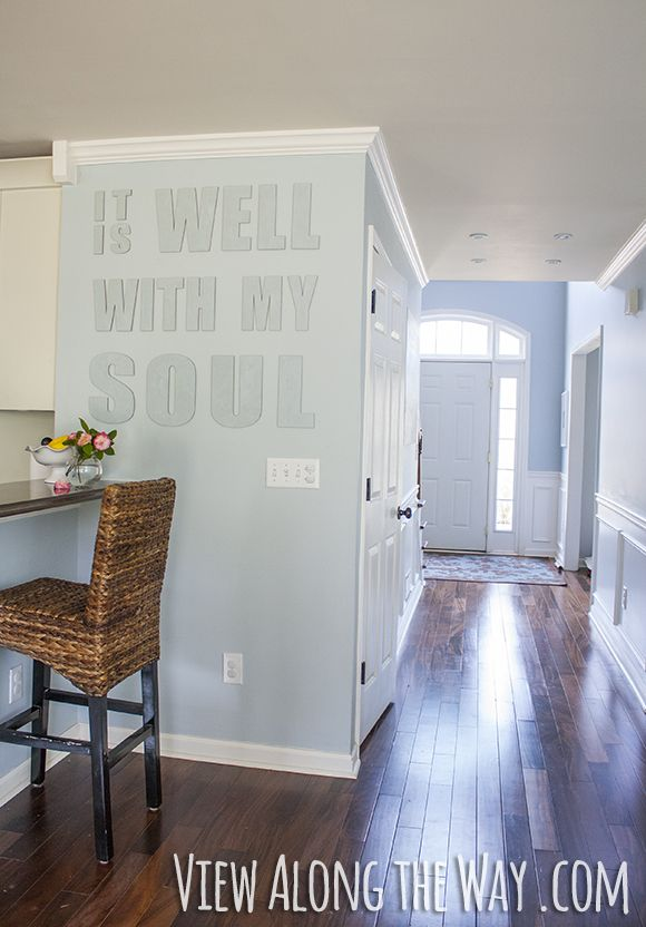 Hang canvas letters of any quote or verse to decorate an awkward wall space!