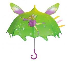Betoverende feeen paraplu, van het merk Kidorable. De ontwerpers hebben het idee van een normale paraplu compleet overboord gegooid en er een fantasie tent van gemaakt. De paraplu is gemaakt van 100% nylon en speciaal gemaakt zodat de kleine kinderhanden het makkelijk kan vasthouden.