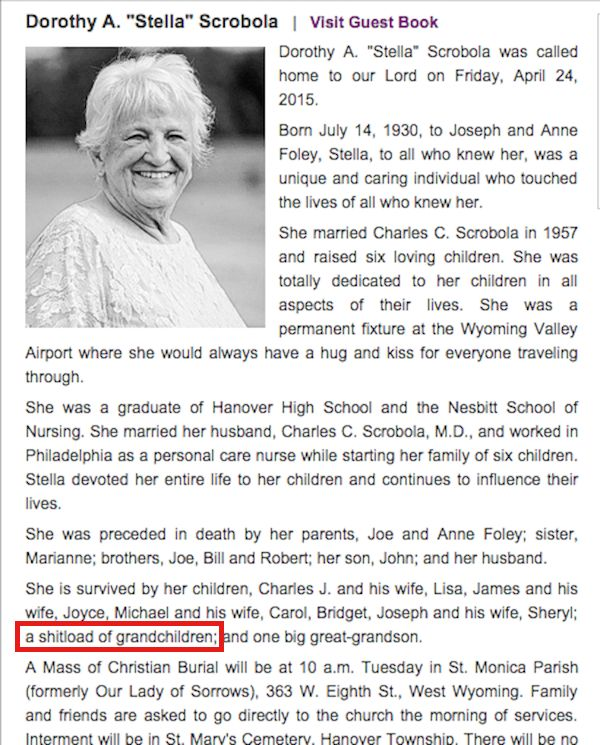 17 Best images about Best Obituaries EVER! on Pinterest | The ...