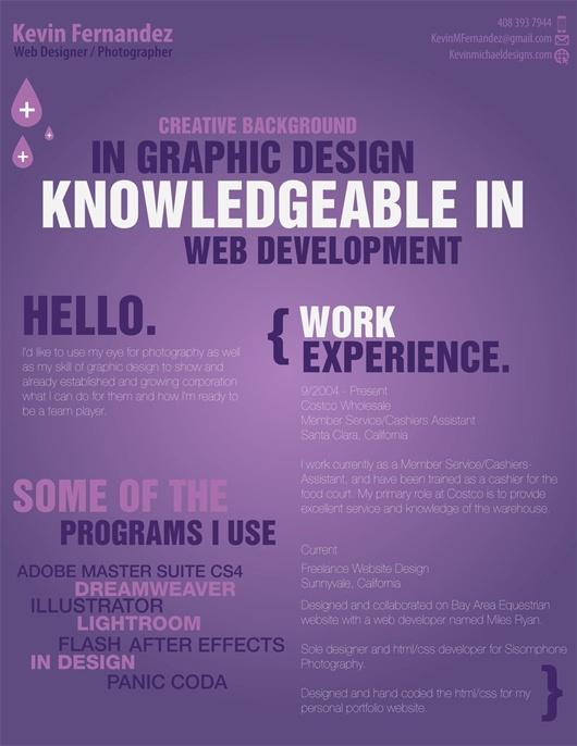 168 best Creative CV Inspiration images on Pinterest Projects - web developer resume
