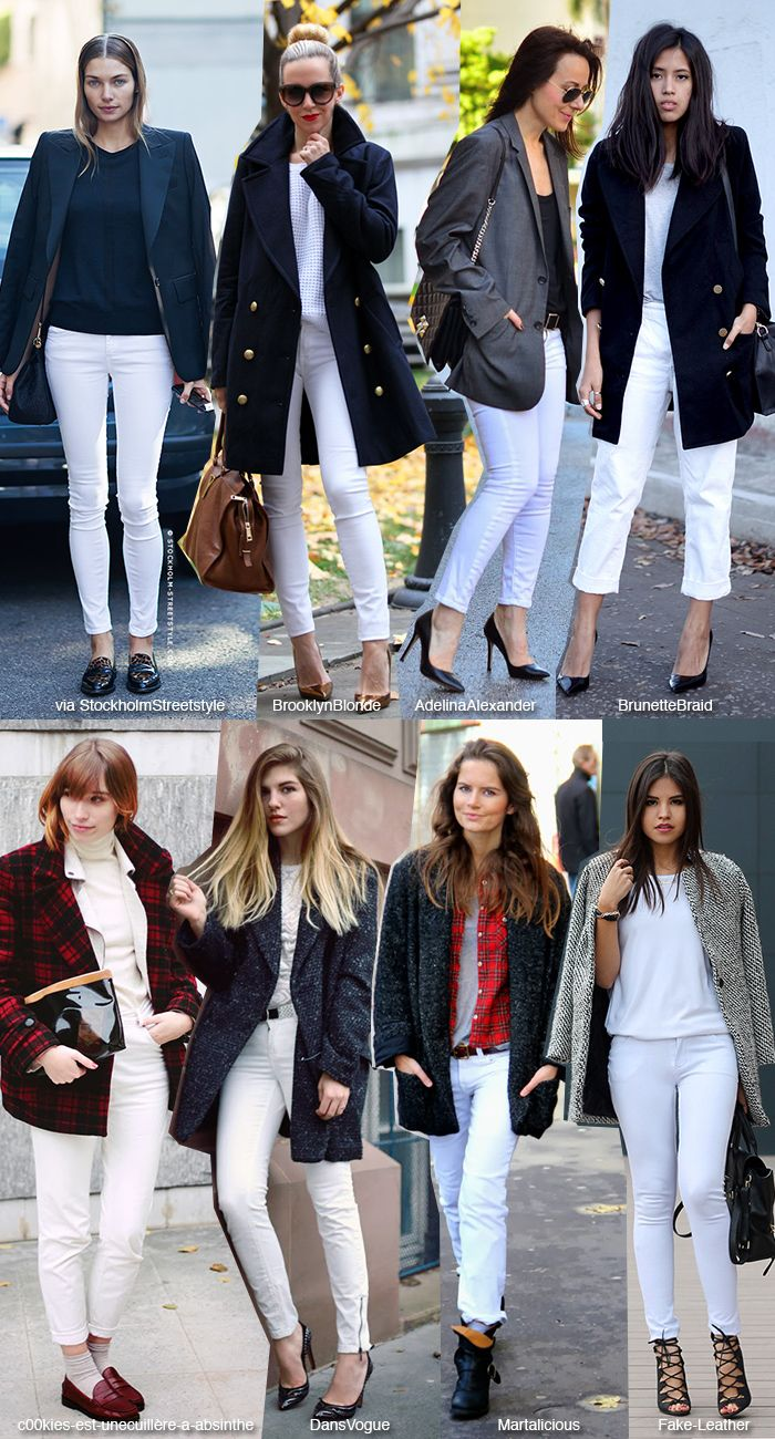 How to wear: Winter White Jeans (Blue is in Fashion this Year)