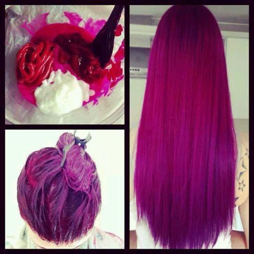 Definitely thinking about dying my hair this color. It's so different and original I love it!