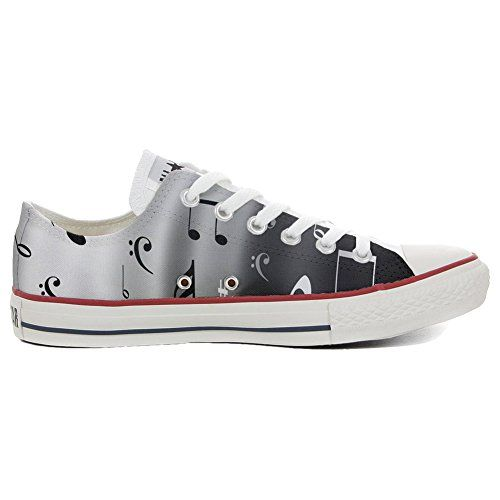 Converse All Star personalisierte Schuhe (Handwerk Produkt) Musical Notes - http://on-line-kaufen.de/make-your-shoes/converse-all-star-personalisierte-schuhe-notes