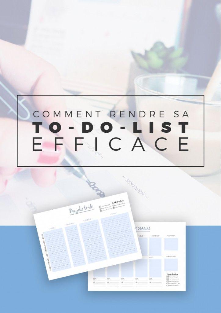 Comment rendre sa to-do-list efficace ? | Si vous vous sentez débordés par une liste de tâches longue à n'en plus finir, que vous cherchez un moyen d'optimiser, organiser et gagner du temps avec vos tâches, cet article pourrait vous aider ! Epinglez l'image pour plus tard ou cliquez pour lire tout de suite !