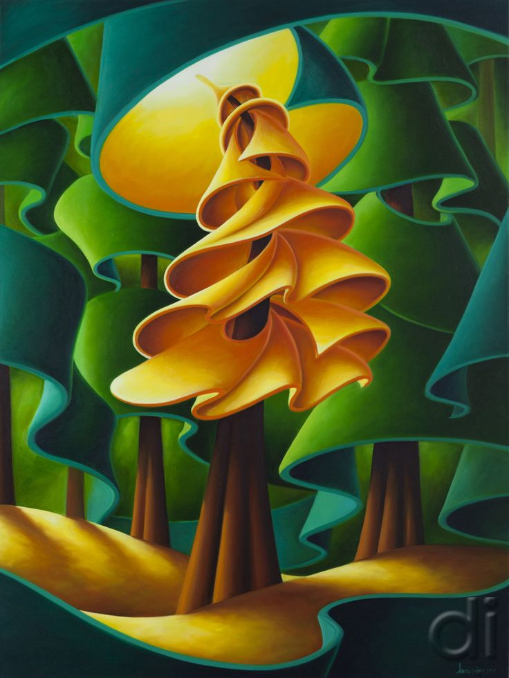 Elation (The Golden Spruce)  36 x 48  2014  oil on canvas
