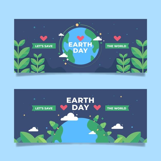 Download Flat Design Earth Day Banner For Free Print Design Template Graphic Design Templates Vector Free