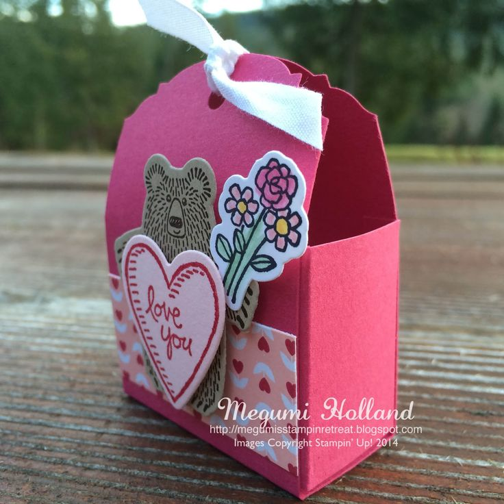 Megumi's Stampin Retreat, Stampin' Up! Bear Hugs Stamp Set, Stampin' Up! Bear Hugs Framelits, Stampin' Up! Ornate Tag Topper Punch, Stampin' Up! Love Blossoms DSP