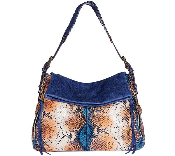 Vintage styling meets modern design. When you sling this leather hobo bag over your shoulder, you know you look absolutely splendid. QVC.com